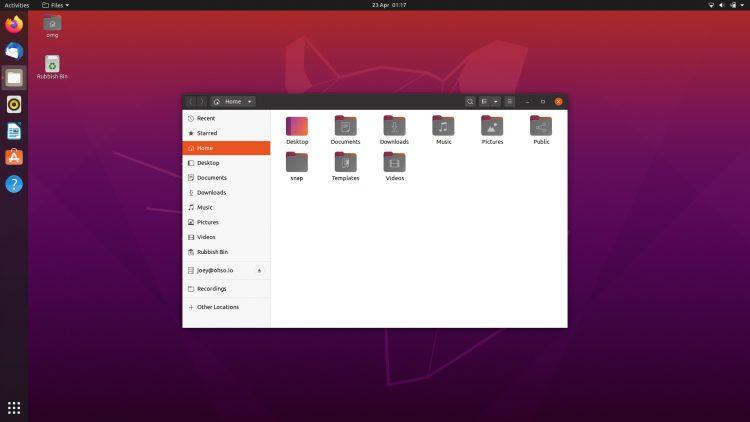 Imagem de tela do ubuntu 20.04