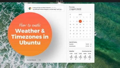 Enable weather gnome shell