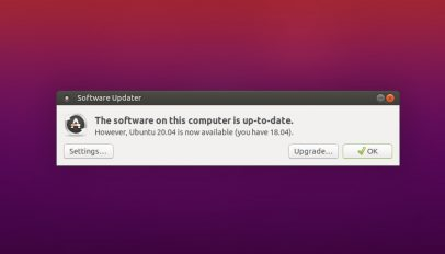 Ubuntu 20.04 upgrade prompt