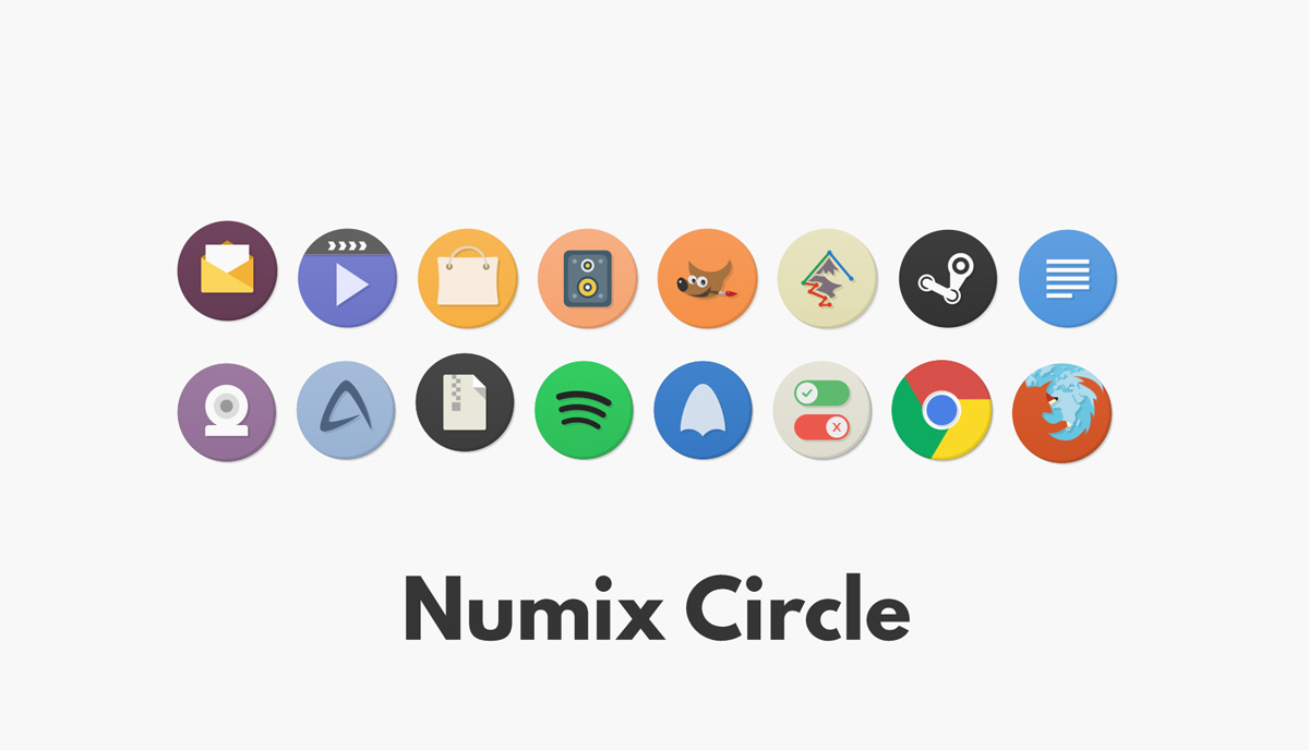 numix circle icon set