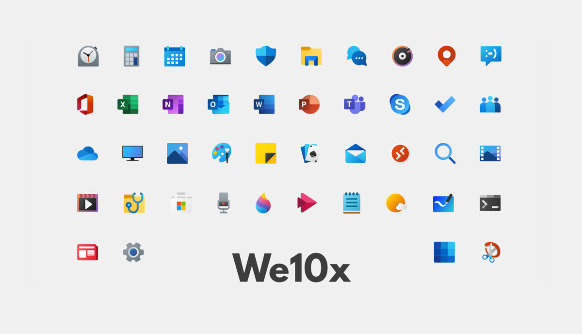 best icon themes we10x