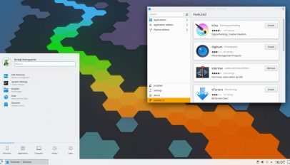 KDE Plasma 5.19 desktop screenshot