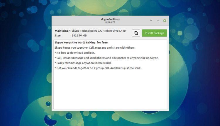 linux mint 20 installer window