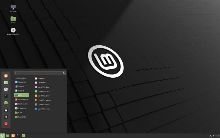 Linux Mint 20 Cinnamon desktop screenshot