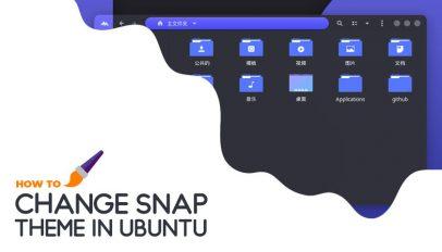 change snap app theme
