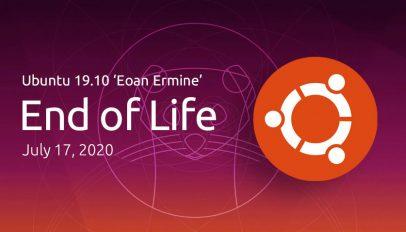 Ubuntu 19.10 end of life