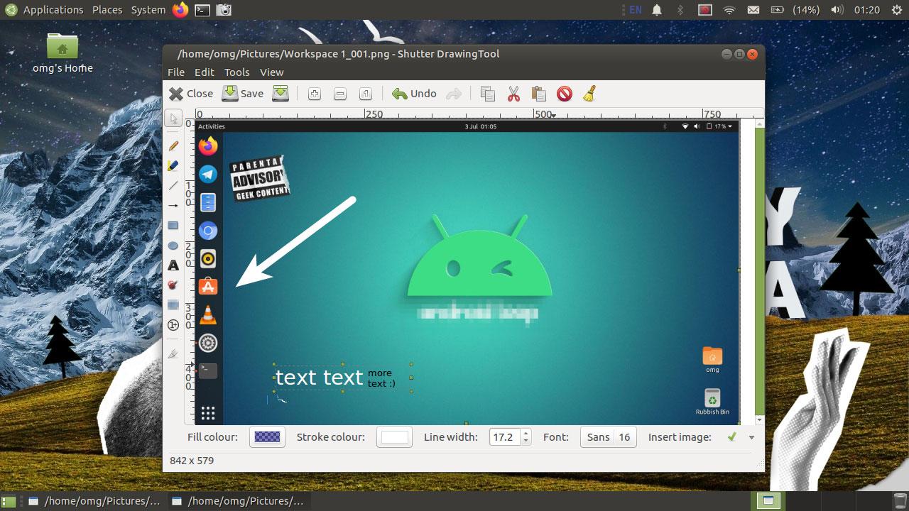shutter screenshot tool on ubuntu