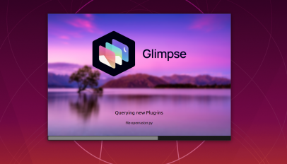 Glimpse splash screen