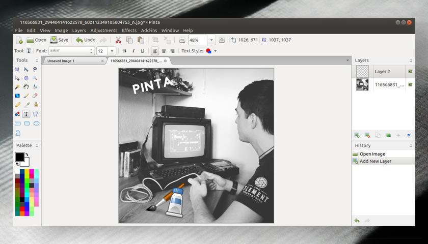 Pinta 1.7 screenshot