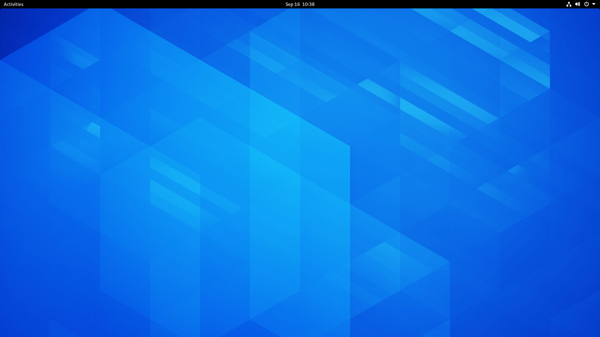 GNOME 3.38 Clean Desktop Screenshot