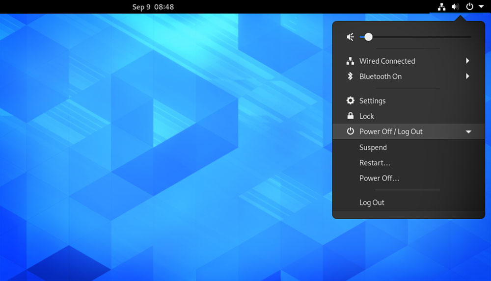GNOME 3.38 features: restart option