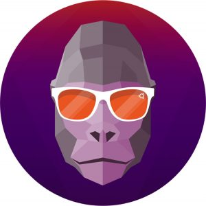 groovy gorilla mascot