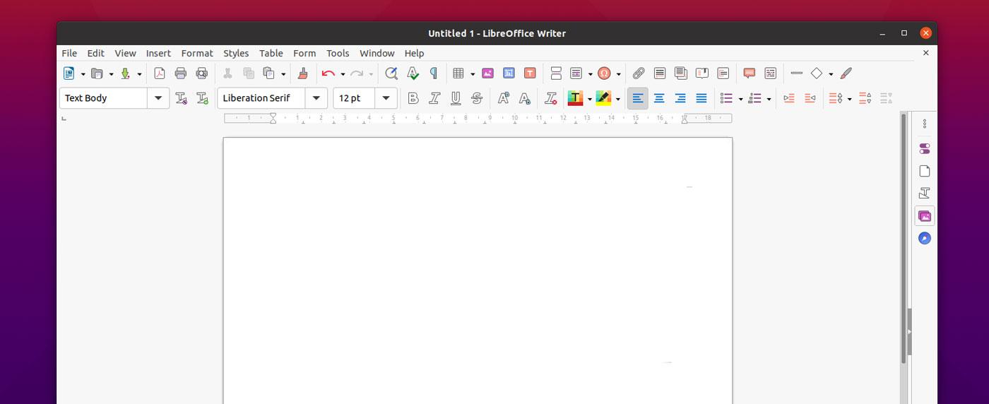 LibreOffice blank document
