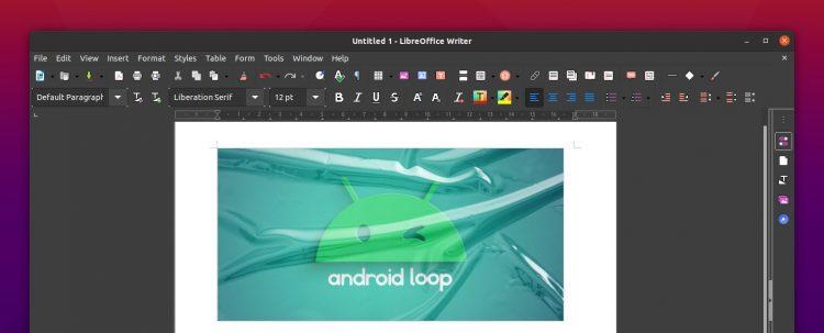 LibreOffice Yaru Dark
