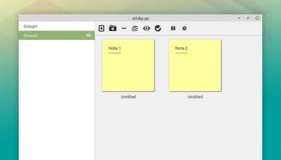 Linux Mint Sticky Notes