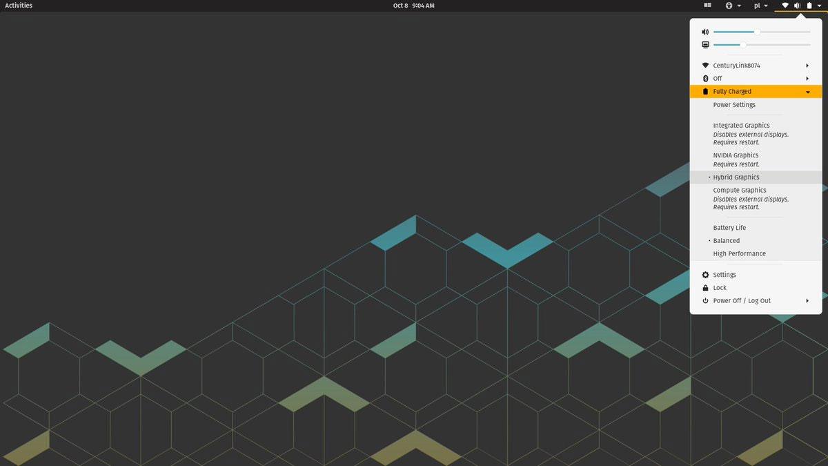pop os 20.10 screenshot
