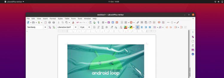 LibreOffice yaru icons