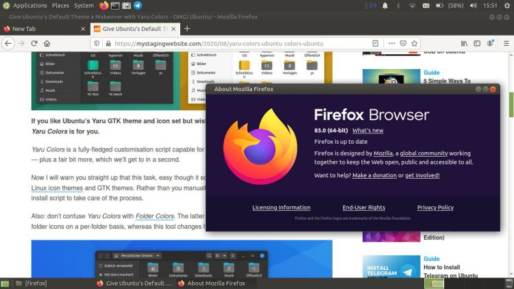 Firefox 83 about
