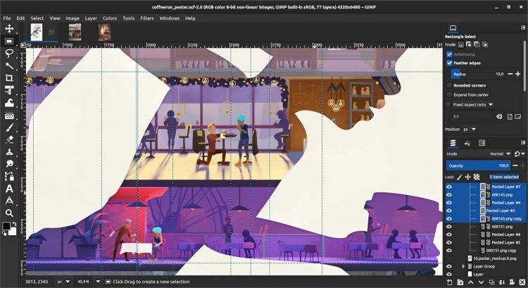 GIMP 2.99.2 Screenshot 2