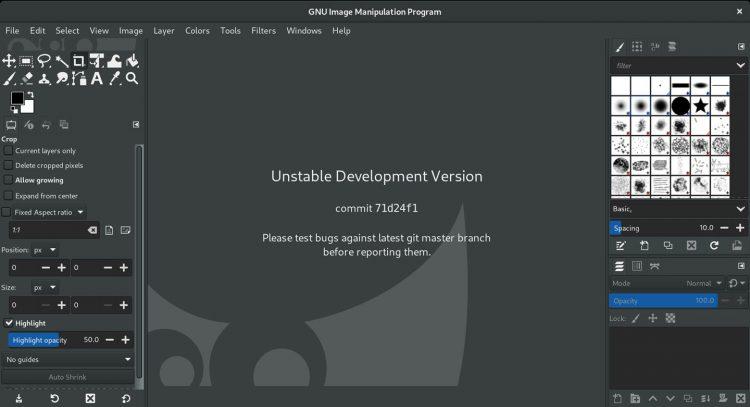 GIMP 2.99.2 screenshot
