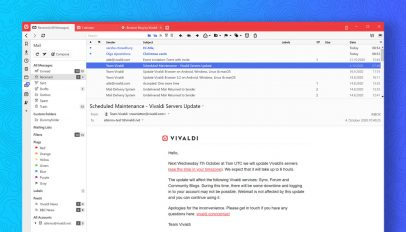 Vivaldi Web Browser Now Has a Built-in Email Client