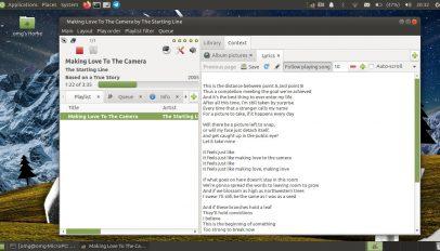 gmusicbrowser gtk3 screenshot