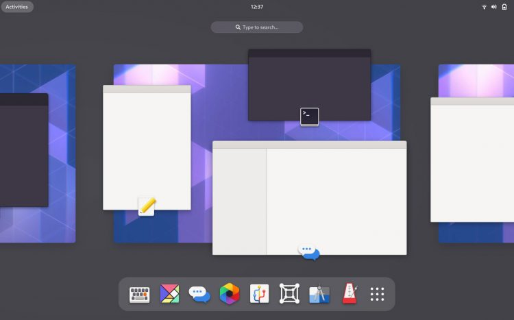 gnome 40 activities redesign