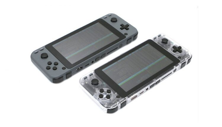 odroid go super clear and grey cases
