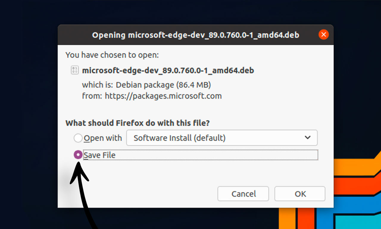 install edge on ubuntu: step two