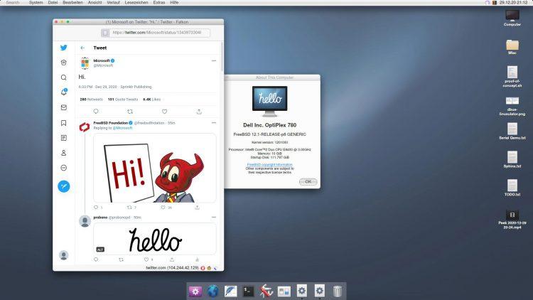 Screenshot of Hello FreeBSD