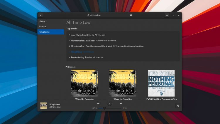GTK Spotify app screenshot 2