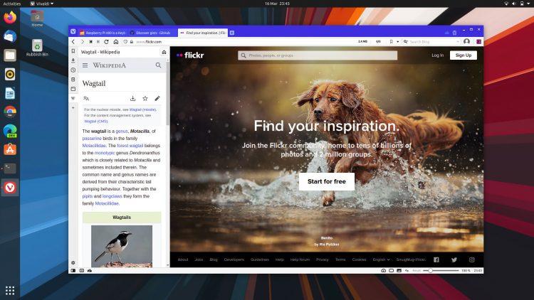 Vivaldi Ubuntu Screenshot