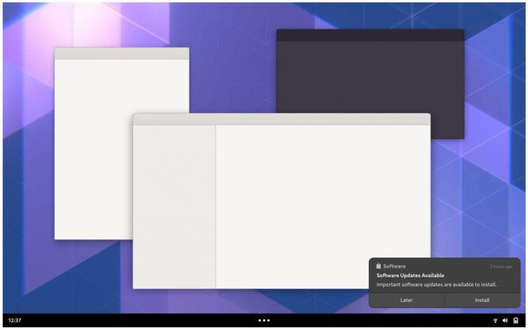 GNOME Shell Mockup: