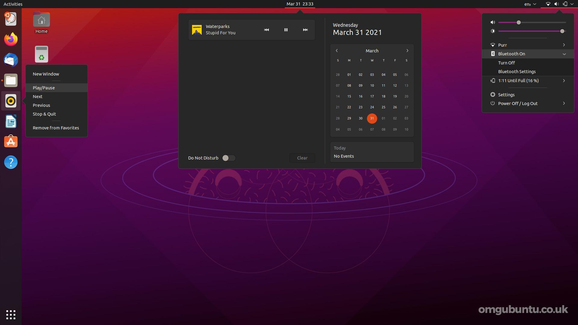 Ubuntu 21.04: dark theme