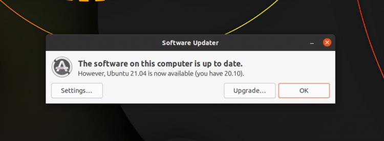 Ubuntu 21.04 Upgrade