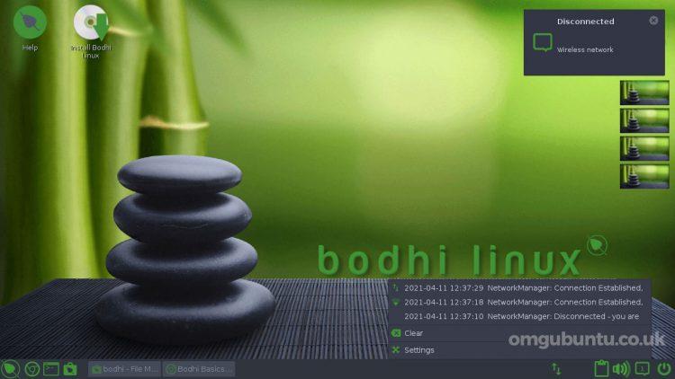 Bodhi Linux 6.0 Notification