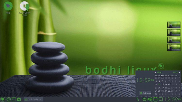 Bodhi Linux 6.0: clock gadget/module