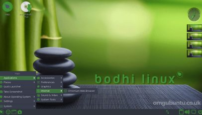 bodhi linux desktop screenshot 1