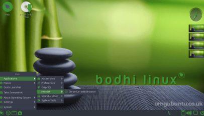 bodhi linux desktop screenshot 1