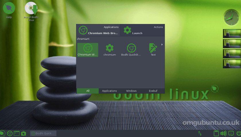 bodhi linux desktop screenshot 2