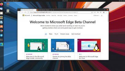 Microsoft Edge Linux Beta