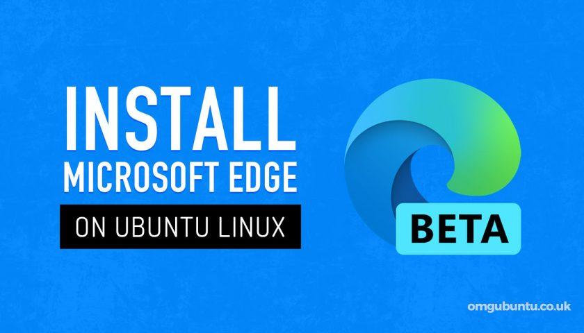 Install Edge on Ubuntu Linux Graphic