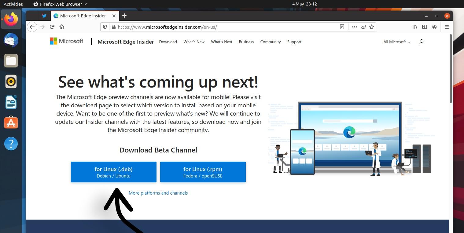 install edge on ubuntu: step one