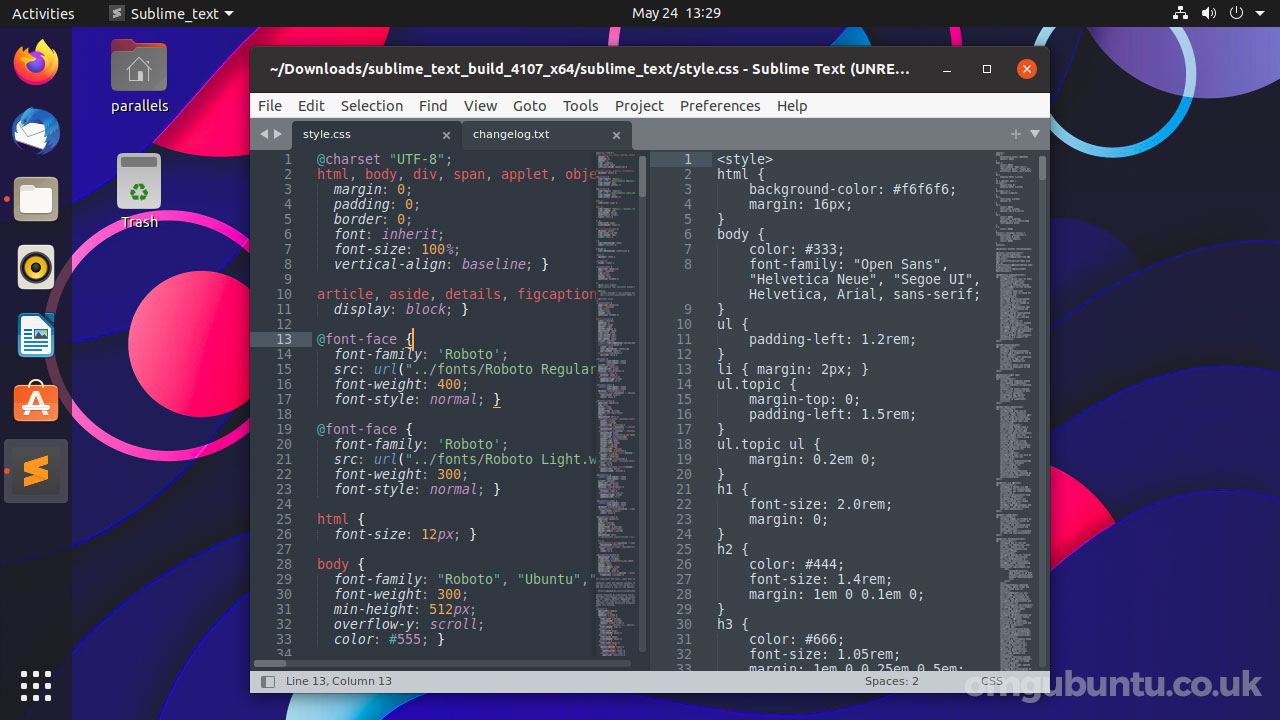 sublime text 4 linux screenshot