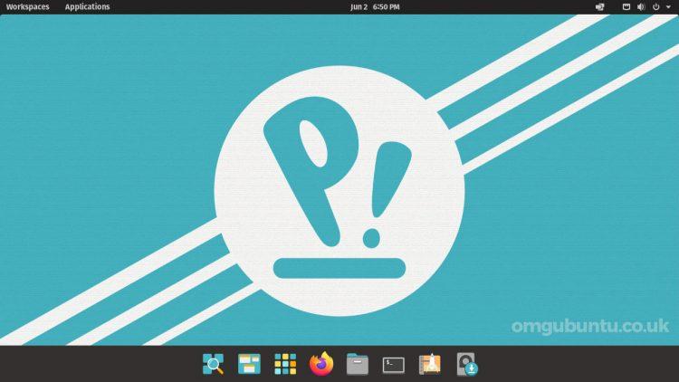 Pop OS 21.04 beta screenshot of the desktop