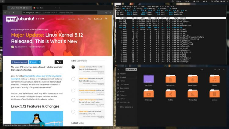 Regolith Linux 1.6 with 'Midnight' Look applied