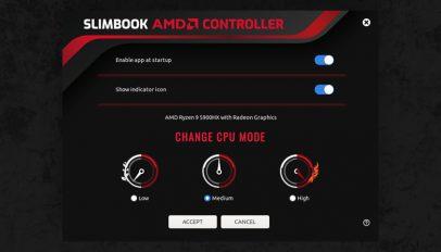 Slimbook AMD Controller app