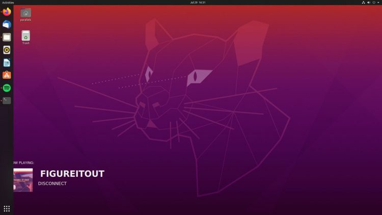 screenshot of now clocking Conky script on Ubuntu 20.04 LTS
