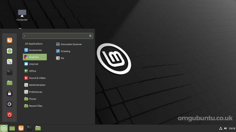 screenshot of Linux Mint 20.2 desktop