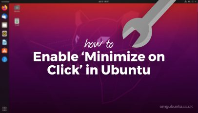 how to minimize on click in ubuntu